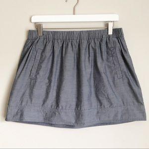 J. Crew Chambray Skirt